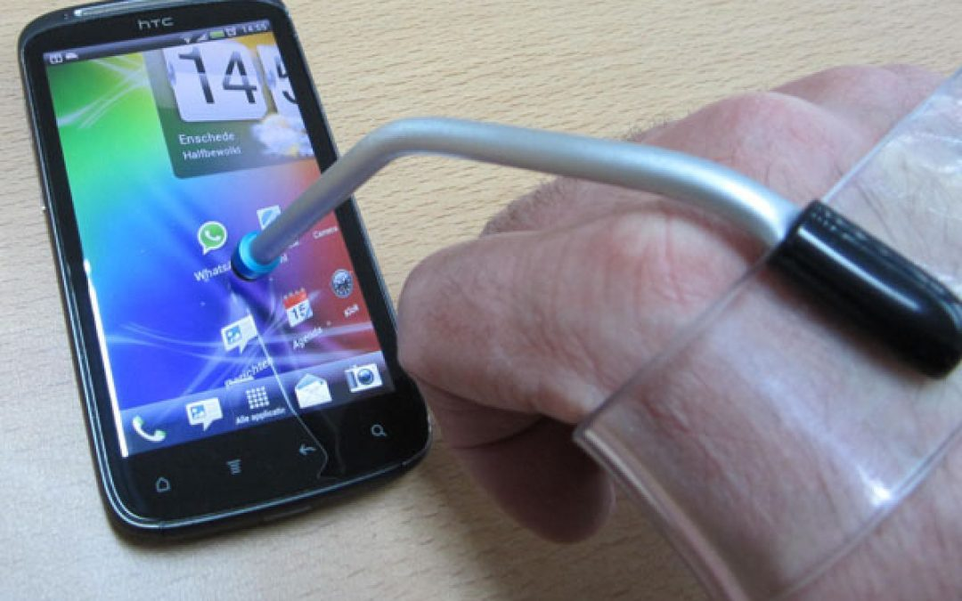 Typspalk voor smartphone of tablet