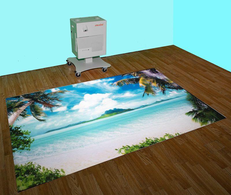 Mobiele projectie voor tafel én vloer